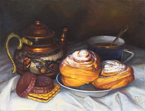 Чайник и булочки