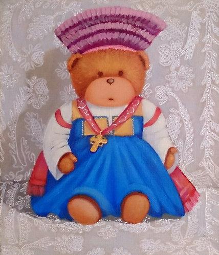Мишка в русском костюме
