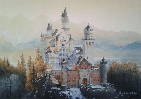 Замок Нойшванштайн. Закат