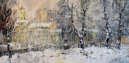 Снегопад. Цветной бульвар