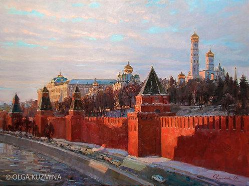 Вечерние краски Кремля