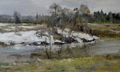 Пасмурный день у реки