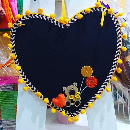 Kit Oficina Lousa de Coração