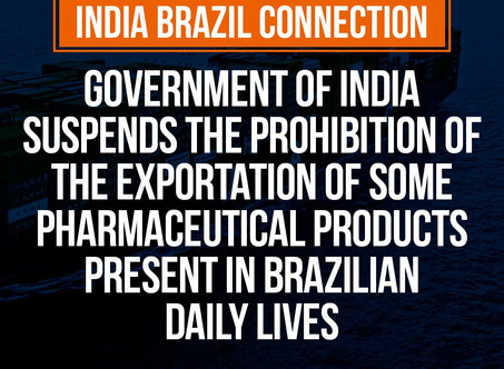 India - Suspension of the prohibition of the exportation of some pharmaceutical products