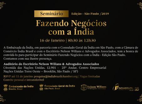FAZENDO NEGÓCIOS COM A ÍNDIA | EDIÇÃO SÃO PAULO