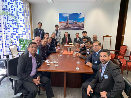 Meeting of the Indian delegation and the Vice Presidency of the Senate - BRICS 2019