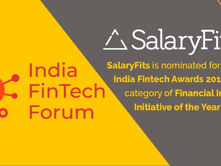 SalaryFits será finalista do India FinTech Awards 2018!