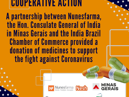 Cooperative Action between IBCC & Nunesfarma provided a donation of Medicines to Minas Gerais State