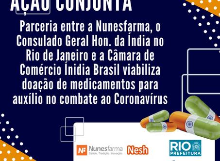 Ação Conjunta viabiliza doação de medicamentos ao Rio de Janeiro para auxílio no combate ao COVID-19