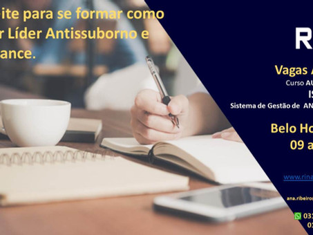 Oportunidade única: forme como Auditor Líder Antissuborno e Compliance!