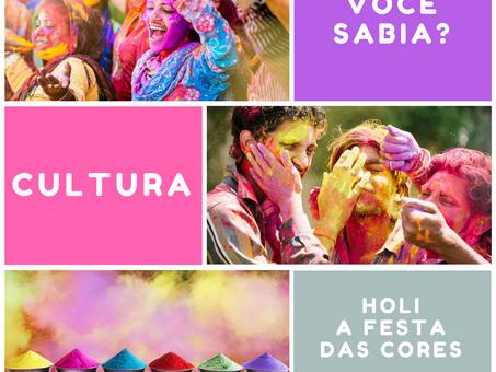 Você sabia que o Holi é um festival de origem indiana?