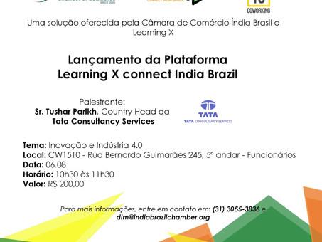 Lançamento da Plataforma Learning X Connecting India Brazil