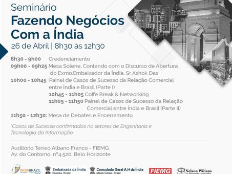 Programação Fazendo Negócios com a Índia - Edição Belo Horizonte