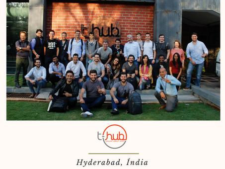 Delegação brasileira da Câmara de Comércio Índia Brasil em parceria com a StartSe visita a t-Hub