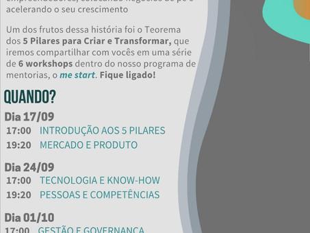 Me Start! Participe! Cortesia para os Associados da CCIB