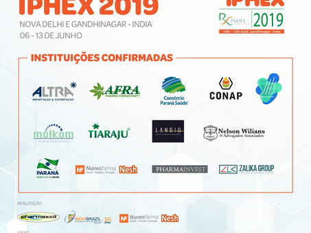 CHECK THE DELEGATION CONFIRMED UNTIL THE MOMENT FOR THE IPHEX 2019 MISSION!