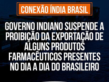 Índia - Fim da proibição da exportação de alguns produtos farmacêuticos do cotidiano dos brasileiros
