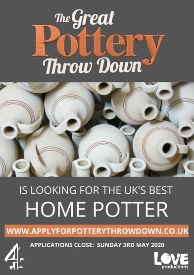 The Great Pottery Throw Down is looking for the UK's best home potter! Applications are open unt