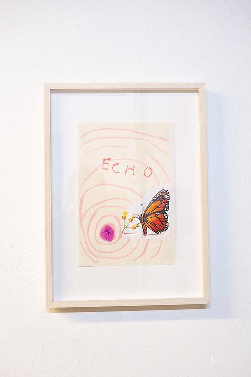Ella Belenky, Echo, risograph and screen print on paper