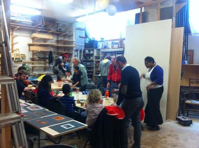 More family workshops at Kingsgate Workshops for Open Studios today 12 - 6pm.