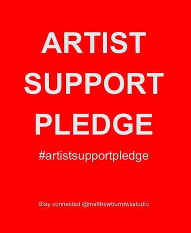 The Artist Support Pledge is a great initiative by Matthew Burrows - where artists can buy and sell