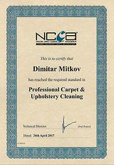 Everyday Clean Ltd - Certificate NCCA