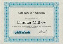 Everyday Clean Ltd - Certificate TACCA