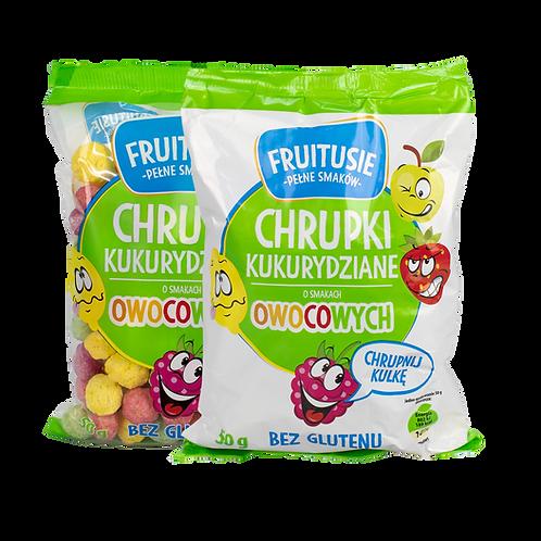 Fruitusie 50g - chrupki kukurydziane o smakach owocowych