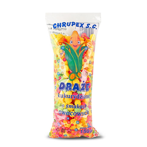 Draże kukurydziano-owocowe 150g
