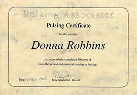 Professional Pulsing Therapy Certification - Donna Robbins Therapies in Margate, Thanet, Kent