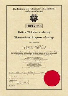 ITHMA Professional Holistic Clinical Aromatherapy Diploma Certification - Donna Robbins Therapies in Margate, Thanet