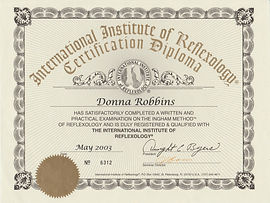 Professional International Institute of Reflexology IIR Certification - Donna Robbins Therapies in Margate, Thanet, Kent