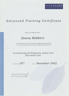 Tisserand Aromatherapy & Massage Advanced Professional Certification - Pregnacy, Labour & Post Natal Care - Donna Robbins Therapies in Margate, Thanet, Kent