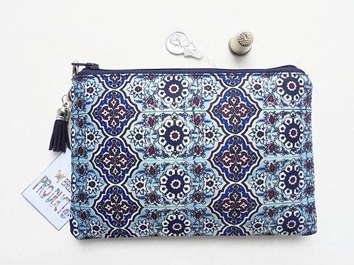 Mum gifts, Mock tile, Turkish, small zipper bag, travel bag, wallet, zipper bag