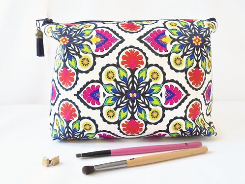 Gifts for her, Wash bag, Boho, Gypsy, folky, colourful travel bag, cosmetic bag,