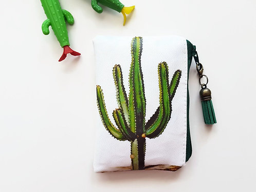 Cactus fabric coin purse,cacti wallet,credit card pouch,pvc free wallet