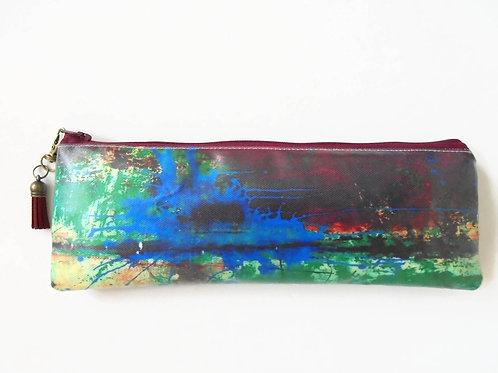 Back to school Art gifts, Waterproof Pencil Case, Rusty art, brush bag, crochet