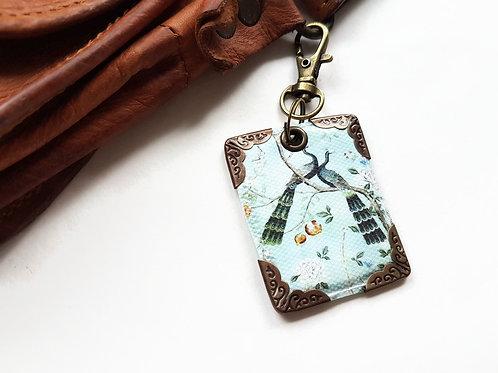 Chinoiserie keyring,bag charm, purse charm,bag tag,bag accessory,key chain,charm
