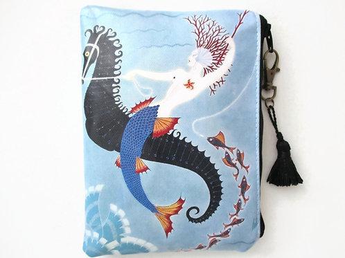 Art Deco Mermaid Waterproof vegan vinyl wallet
