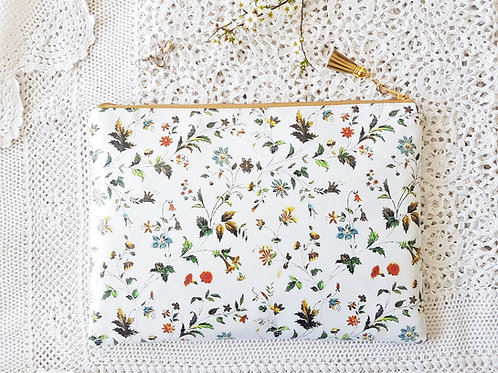 Autumn florals vegan washbag.
