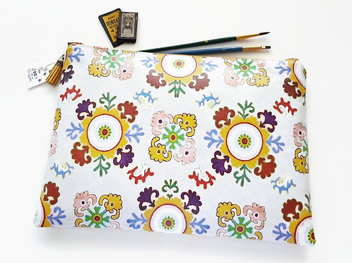 Boho,bohemian,gypsy,PVC-free iPad sleeve 9.7, iPad air 2, toiletry bag, make-up