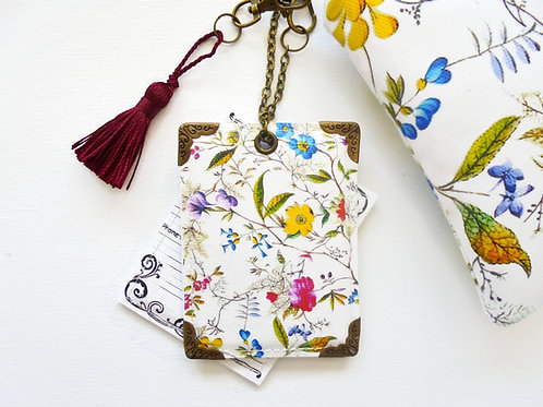 Botanical print Luggage tags, travel tags, holiday Tags.