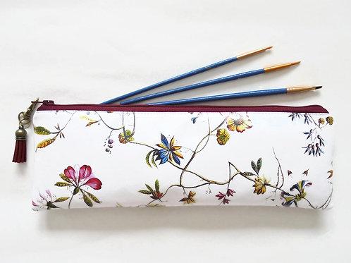 Pencil Case, Botanical print,Floral brush bag