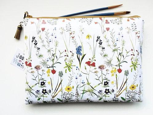 botanical,flower stem, iPad sleeve 9.7, iPad air 2, toiletry bag, make-up pouch,
