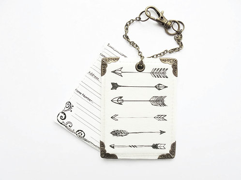 Arrows, travel tags, luggage tags, baggage Tags, travel in style.