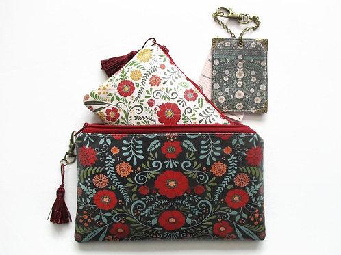 Travel Gifts, Waterproof Primitive Flower Print Passport Gift Set