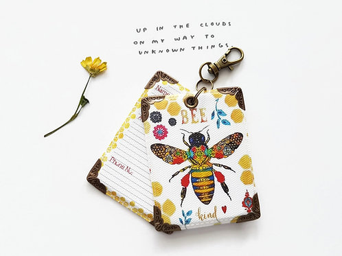 Honey bee luggage tags,Travel gifts,Bumble bee print Luggage tags.