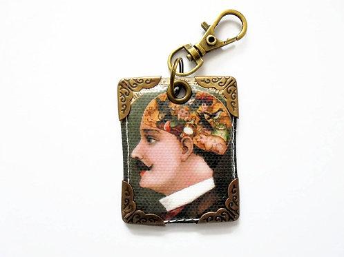 Phrenology,keyring,bag charm, purse char,bag tag,bag accessory,key cha