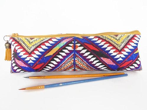 Art gifts, navajo aztec pencil case, student gift, teacher gift, art gift