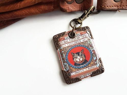 Cat keyring,bag charm, purse char,bag tag,bag accessory,key chain,charm,bag char
